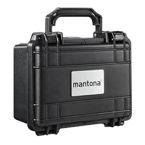 Mantona utomhusfotoskyddsfodral L (lämplig för DSLR-kameror, GoPro actionkameror, fotoutrustning och mycket mer, storlek L, vattentät, stötsäker, dammsäker) svart, Svart, Small