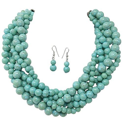Multi Bead Necklace Set - 2
