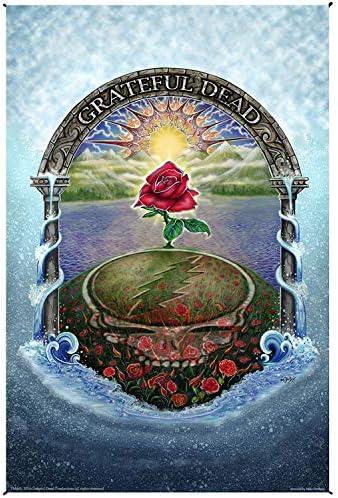 Sunshine Joy Grateful Dead Rose Garden Tapestry Huge Heady Wall Art 53×85 Inches