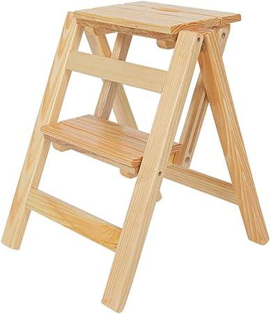 RANRANJJ Little Partners Taburete elevador para niños pequeños y adultos, escalera de madera Taburete de 2 pasos Multifunción Escalera plegable para taburetes y estantes Biblioteca de cocina para el h: Amazon.es: Hogar