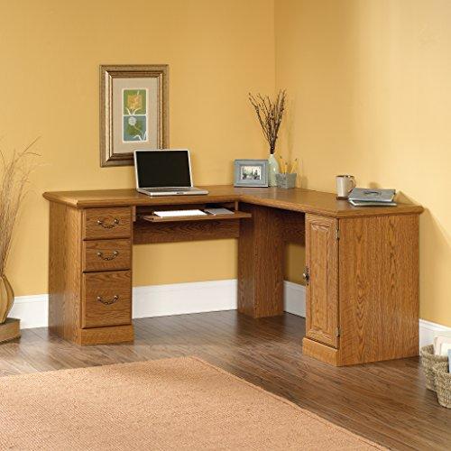 Sauder Orchard Hills Corner Computer Desk, Carolina Oak - Orchard Corner Hills Computer