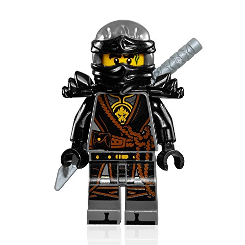 LEGO NinjaGo Minifigure - Cole (Hands of Time, w/ Black Armor) 2017 ()