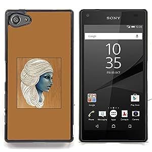 """For Sony Xperia Z5 Compact Z5 Mini (Not for Normal Z5) Case , Diosa egipcia Mujer Café Arte"""" - Diseño Patrón Teléfono Caso Cubierta Case Bumper Duro Protección Case Cover Funda"""