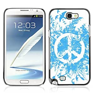 YOYOSHOP [Cool Abstract Peace Sign] Samsung Galaxy Note 2 Case by Maris's Diary