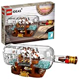 LEGO Ideas Ship in a Bottle 21313 Expert Building Kit Model Ship, Collectible Display Set and Toy for Adults (962 Pieces)