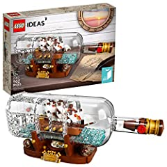 Continue a nautical tradition when you build the LEGO Ideas 21313 Ship in a Bottle, featuring a highly detailed ship with the captain's quarters, cannons, masts, crow's nest and printed sail elements. Place the ship inside the LEGO brick-buil...