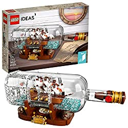 Continue a nautical tradition when you build the LEGO Ideas 21313 Ship in a Bottle, featuring a highly detailed ship with the captain's quarters, cannons, masts, crow's nest and printed sail elements. Place the ship inside the LEGO brick-built bottle...