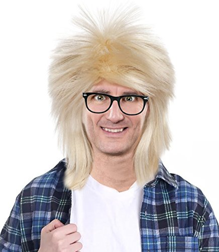 Garth Costume Wig and Glasses Garth Wig Costume Wayne and Garth Costume Wig (Wayne Garth Costumes)