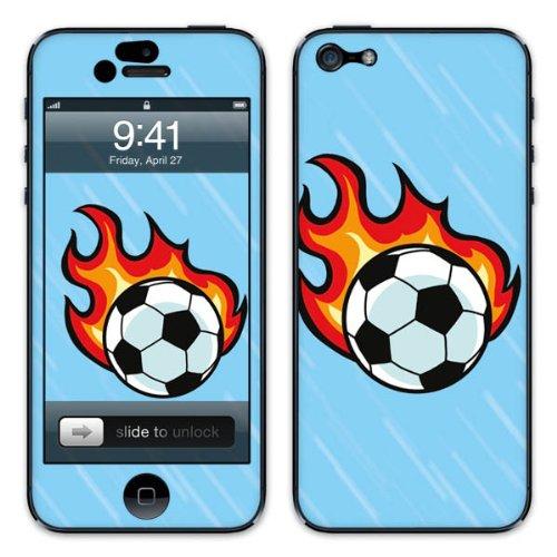 Diabloskinz B0081-0046-0058 Vinyl Skin für Apple iPhone 5/5S Flaming Ball