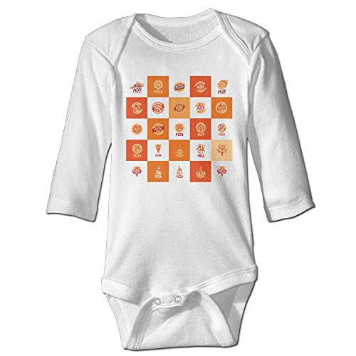 GOODSKY Baby Boys Essentials Long Sleeve Bodysuits Garment For Baby Girls Thigh Gap Three Slices Pizza Same Thing
