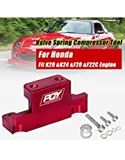 PQY Valve Spring Compressor Tool Removal Compatible with Honda Acura K Series K20 K24 F20C F22C Red