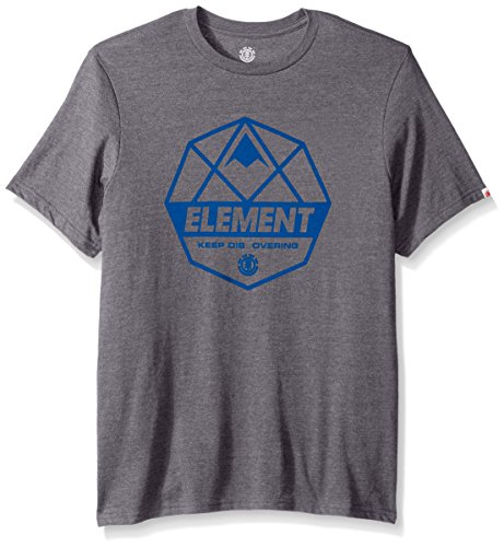 Element Men's Logo T-Shirt Heathered Colors, Dome Grey Heather, (Element Dome)