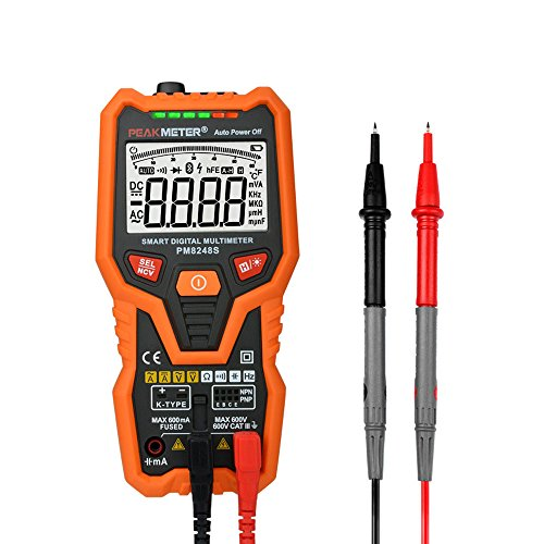 PM8248S Smart Fully AutoRange Professional Digital Multimeter Voltmeter with NCV Frequency Bargraph Temperature Transistor test Transistor Test