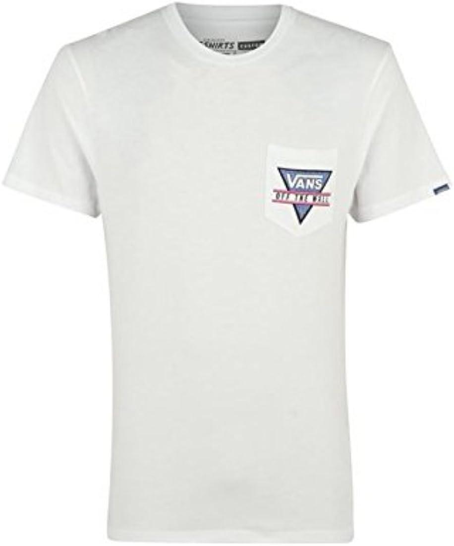 Para hombre cuadrada bolsillo Vans T-camiseta de manga corta camiseta de manga corta de algodón cuello redondo camiseta para hombre en la parte superior y Regular: Amazon.es: Ropa y accesorios
