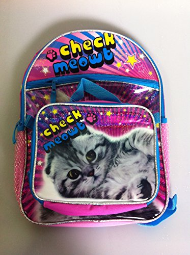 Global Design Concepts Check Meowt Kitty Backpack and Lun...