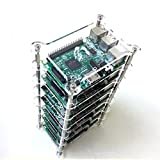GeauxRobot Raspberry Pi 3 Model B 7-layer Dog Bone Stack Clear Case Box Enclosure also for Pi 2B B+ A+ B A …