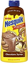 Nestle Nesquik Syrup, Chocolate, 22-Ounce Bottles (Pack of 6)