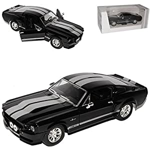 YM 1:24 Ford Shelby Mustang GT 500 1967 negro