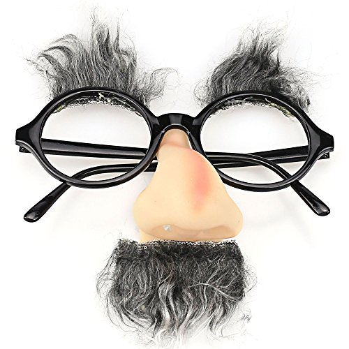 TIJN Classic Party Glasses Funny Fuzzy Nose and - Glasses Artificial