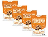 Maxine's Heavenly - Vegan, Gluten Free, Soy Free, Non-GMO - Peanut Butter Chocolate Chunk cookies - 7.2 ounce bags (4 pack)