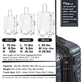 COOLIFE Luggage Expandable(only 28'') Suitcase PC