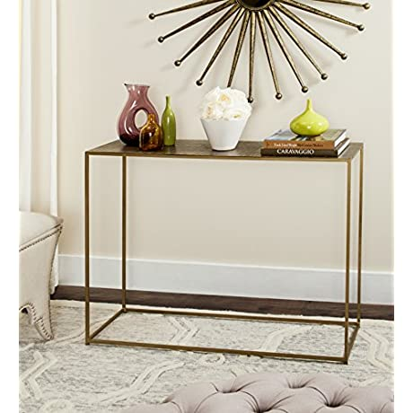 Safavieh Home Collection Risa Antique Brass Matrix Standard Console