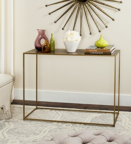 Safavieh Home Collection Risa Antique Brass Matrix Standard - Console Standard Table Collection