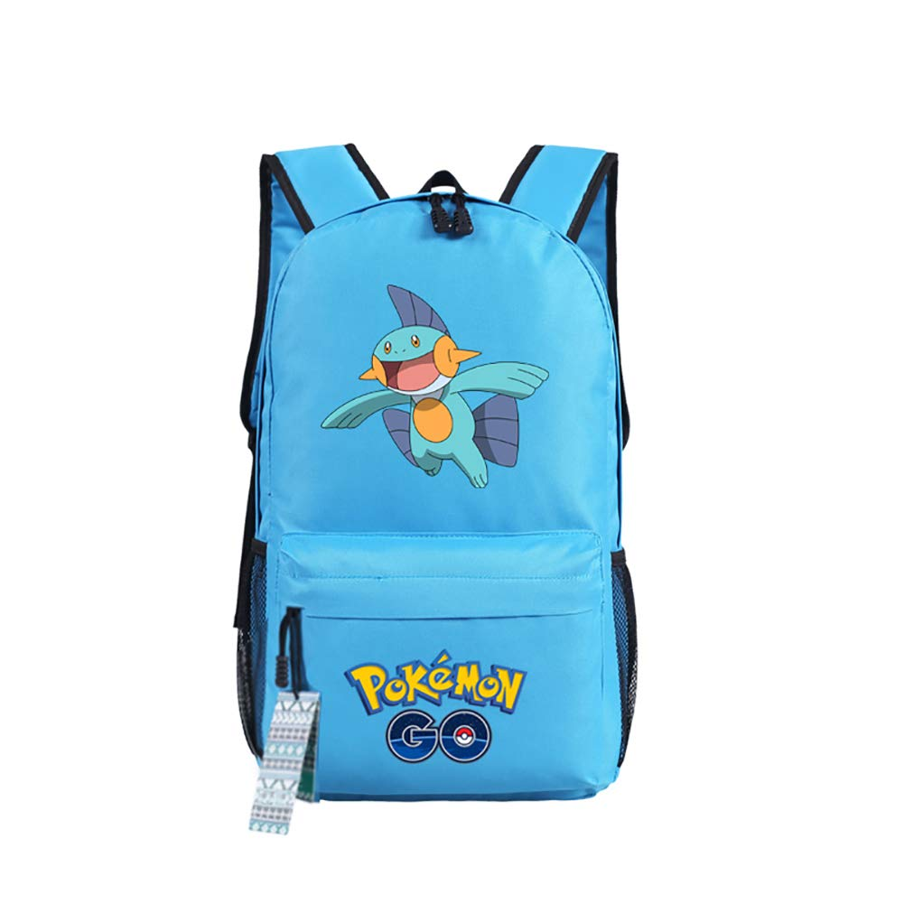 U&M 600D Oxford Pocket Monster Backpacks Anime Cartoon Cosplay Shoulder Bags Schoolbags Daypack
