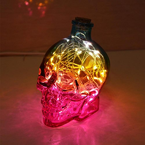 DMMSS Modern Creative 3 Color Night Light Bedroom Bedside Lamp Led Energy-Saving Skull Headlights Usb Charging Desk Lamp Desktop Writing Lamp Led Night Lights L11CmW9CmH14Cm , 3 by DMMSS Pyjamas