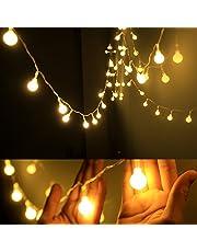 Dailyart DAJ48 13Feet/4M Long Globe String Light Starry Light, Warm White, Battery-Powered