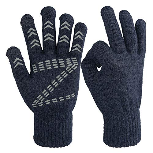 Cierto Winter Knit Touchscreen Gloves Thermal Protection Men Women