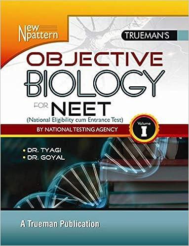 Buy Trueman's Objective Biology for NEET - Vol  I & II Book