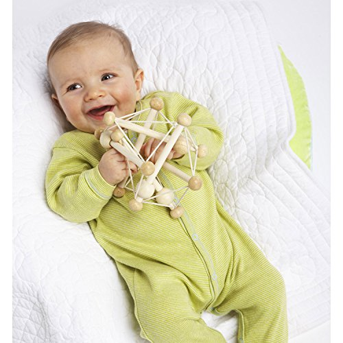518JyX28xaL - Manhattan Toy Skwish Natural Rattle and Teether Grasping Activity Toy