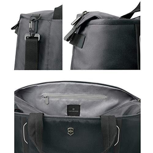 Victorinox Werks Traveler 6.0 Weekender Bag with Zipper Expansion, Grey, 12.6-inch