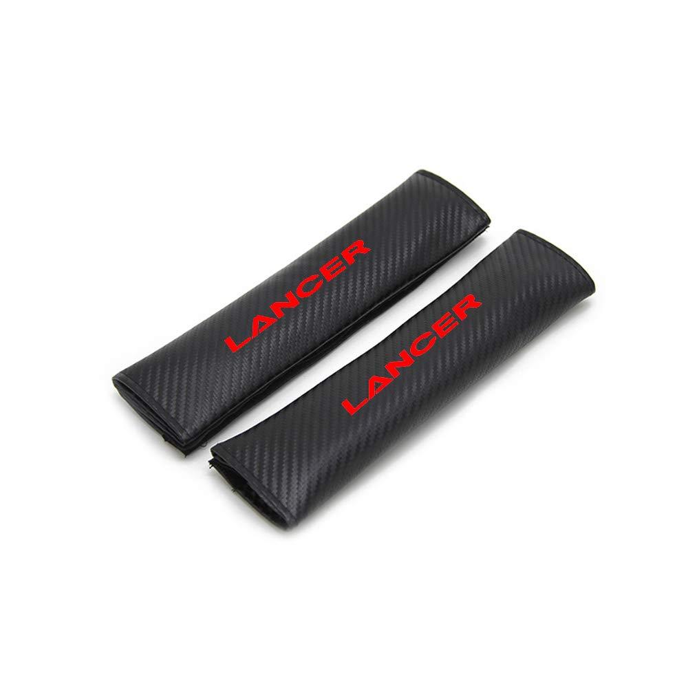 for Mitsubishi Lancer Car Seat Belt Shoulder Strap Protect Pads Cover No Slip No Rubbing Soft Comfort 2Pcs White SLONG