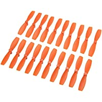 BangBang 10 Pairs Racerstar 2030 R-BN55 55mm 2 Blade Bullnose Propeller 1.5mm Hole For 1103-1106 Motor (10 Pairs: Color Orange)