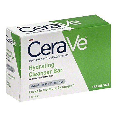 Cerave Hydrating Cleanser Bar Soap For Dry To Normal Skin, 1