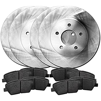 Vanden Plas Front Black Drill Slot Brake Rotors+Ceramic Pads Fits Jaguar S-Type