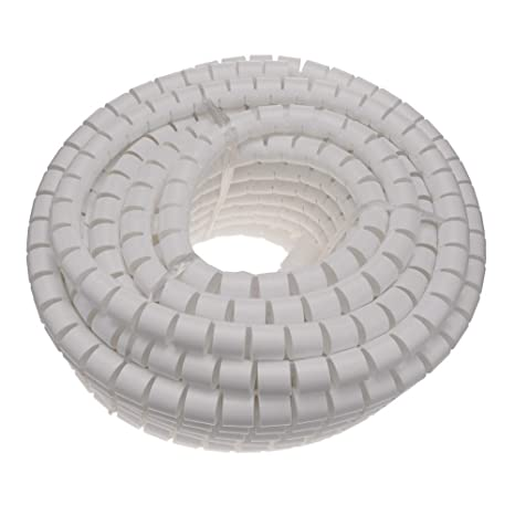 Kabelschlauch Kabelkanal Spirale Kabel Organisator schwarz 4-50 mm L/änge 2,5 m BeMatik