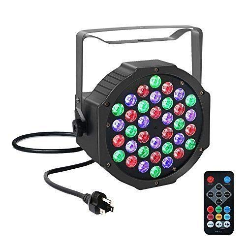FidgetGear 36W LED Par RGBW Stage Light IR Remote Control DMX512 Disco DJ Party Lighting from FidgetGear