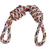 Ytf Dog Rope Toy Aggressive chewers for Huskies,Dog Rope Long Toy,Durable,Cotton and Linen chew Dog Rope Toys,Long Interactive Dental Floss,Dog Gifts,tug of war Rope for Large/Medium Sized Dog