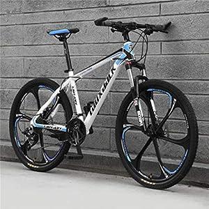 518K%2BCM2WhL. SS300 WJH 26 Pollici di Montagna Adulto Speed Bike Doppio Freno a Disco off-Road Uomini e Donne Bicicletta (Colore: Frassino…
