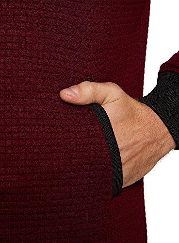 4900n Acolchada oodji Chaqueta Ultra de Punto Hombre Rojo wAA6zqS4n
