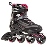 Rollerblade Zetrablade W - Women's Skate - 4x80mm/84A Wheels - SG 5 Performance Bearings - Black/Cherry - US Women's Size 6