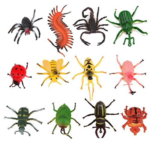 Figurine Bug - ULTNICE Bugs and Insects for Kids Figurines Models Figures Children's Joke Trick Gag Toy Animal Collection Biology Science