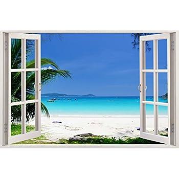 Amazoncom Realistic Window Wall Decal Peel and Stick Nautical