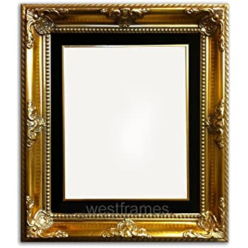 west frames estelle antique gold leaf wood picture frame with black velveteen liner 20 x 24