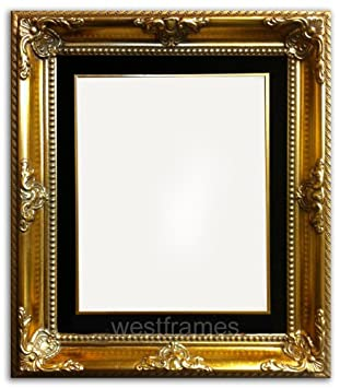 west frames estelle antique gold leaf wood picture frame with black velveteen liner 8 x