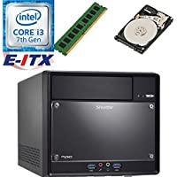 Shuttle SH110R4 Intel Core i3-7100 (Kaby Lake) XPC Cube System , 4GB DDR4, 2TB HDD, DVD RW, WiFi, Bluetooth, Pre-Assembled and Tested by E-ITX