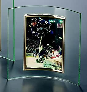 "CURVED GLASS FRAME, - CURVED 4"" X 6"" GLASS FRAME, VERTICAL. - Picture Frame"